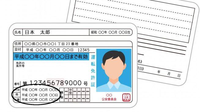 運転免許の取得日の調べ方